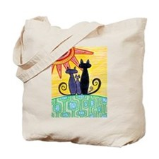 Sunrise Cats Tote Bag