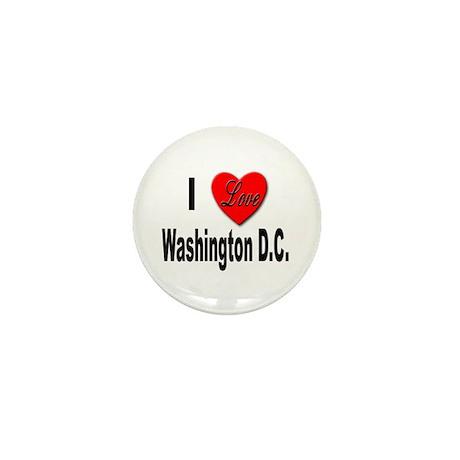 I Love Washington D.C. Mini Button (10 pack)