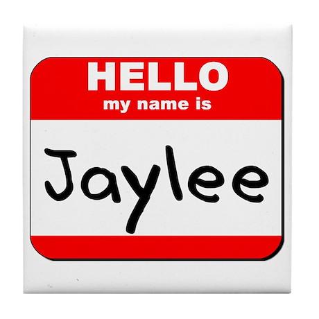 Hello my name is Jaylee Tile Coaster