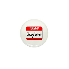 Hello my name is Jaylee Mini Button (10 pack)
