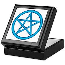 Powder Blue Pentagram Keepsake Box