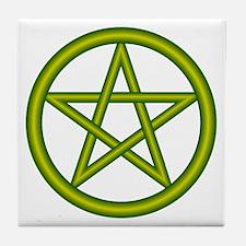 Dragon Green Pentagram Tile Coaster