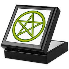 Dragon Green Pentagram Keepsake Box