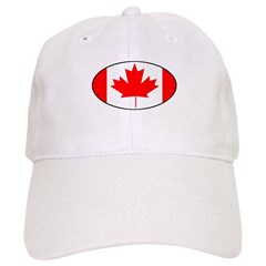 Canadian flag oval Baseball Cap