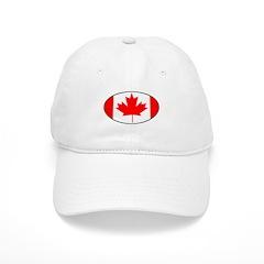 Canadian flag oval Baseball Cap