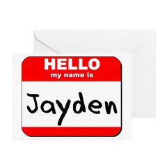 Hello my name is Jayden Greeting Cards (Pk of 10)