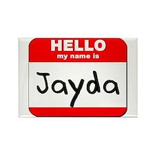 Hello my name is Jayda Rectangle Magnet