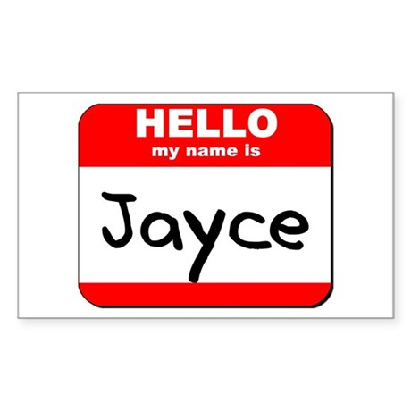 Hello my name is Jayce Rectangle Sticker