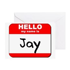 Hello my name is Jay Greeting Card