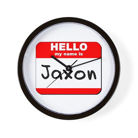 Hello my name is Jaxon Wall Clock