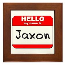 Hello my name is Jaxon Framed Tile