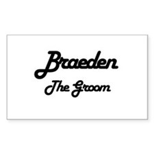 Braeden - The Groom Rectangle Decal