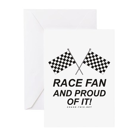 Checker Flag Proud Race Greeting Cards (Pk of 10)