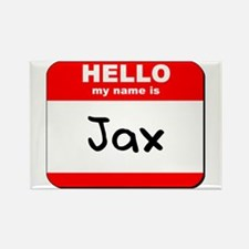Hello my name is Jax Rectangle Magnet
