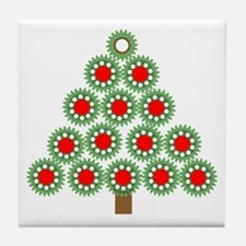 Mechanical Christmas Tree Tile Coaster