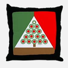 Mechanical Christmas Tree Throw Pillow