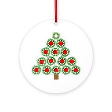 Mechanical Christmas Tree Ornament (Round)