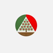Mechanical Christmas Tree Mini Button