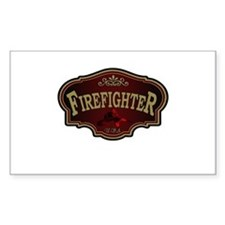 Firefighter Logo Rectangle Decal
