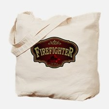 Firefighter Logo Tote Bag