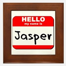 Hello my name is Jasper Framed Tile