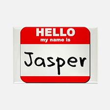 Hello my name is Jasper Rectangle Magnet