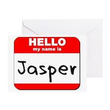 Hello my name is Jasper Greeting Card