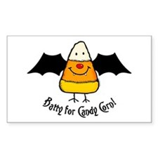 Batty For Candy Corn Rectangle Decal