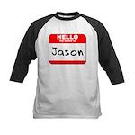 Hello my name is Jason Kids Baseball Jersey