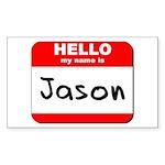 Hello my name is Jason Rectangle Sticker