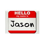 Hello my name is Jason Rectangle Magnet