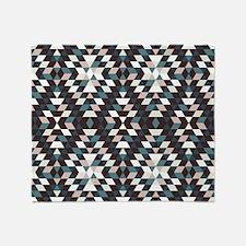 Native Diamond Triangle Pattern Throw Blanket
