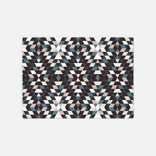 Native Diamond Triangle Pattern 5'x7'Area Rug