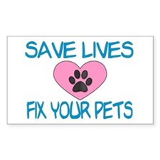 Fix Your Pets Rectangle Decal