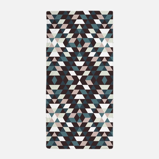 Native Diamond Triangle Pattern Beach Towel
