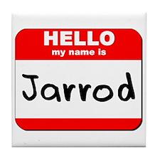 Hello my name is Jarrod Tile Coaster