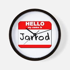 Hello my name is Jarrod Wall Clock