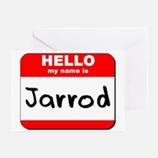 Hello my name is Jarrod Greeting Card