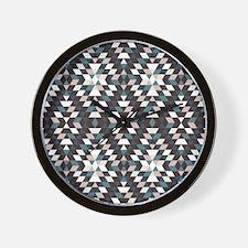 Native Diamond Triangle Pattern Wall Clock