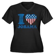 Vintage i Love Jobama iHeart Women's Plus Size V-N