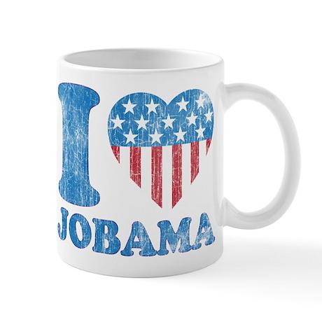 Vintage i Love Jobama iHeart Mug