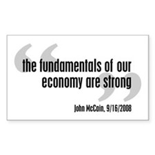 McCain - Strong Economy? Rectangle Decal