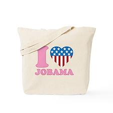i Love Jobama iHeart Tote Bag
