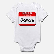 Hello my name is Jaron Infant Bodysuit