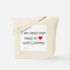 Funny I love loretta Tote Bag