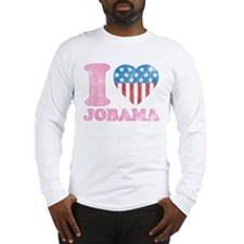 Vintage i Love Jobama iHeart Long Sleeve T-Shirt