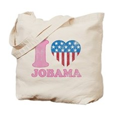 Vintage i Love Jobama iHeart Tote Bag