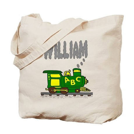 Adorable Train with William in Smoke Tote Bag