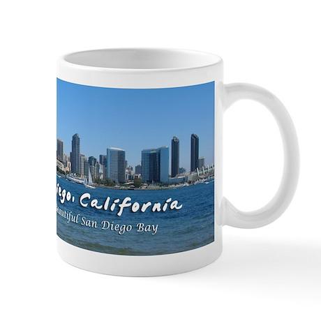 """San Diego, """"Beautiful San Diego Bay"""" Mug"""