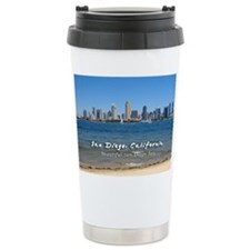 "San Diego, ""Beautiful San Diego Bay"" Travel Mug"